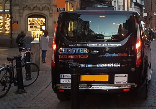 Chester Taxi Services for minibus and taxi cab hire in Chester