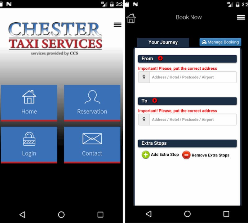 Chester Taxi Booking App - Chester Taxi Services